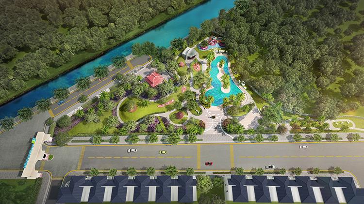 Verosa Park có quy mô 8,1ha trong đó diện tích không gian xanh lên đến 1,6ha.