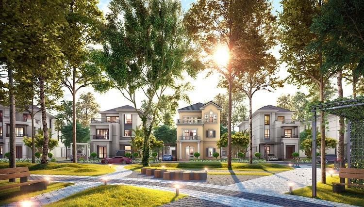 Ảnh phối cảnh biệt thự đơn lập tại khu The Grand villas.  Bất động sản Đồng Nai hưởng lợi từ quy hoạch Biet thu don lap tai khu The G 1434 2536 1571703360