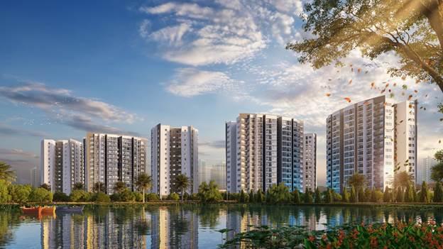 Dự án Le Grand Jardin tại ngã tư đường Nguyễn Lan và đường Huỳnh Văn Nghệ, Sài Đồng, Long Biên