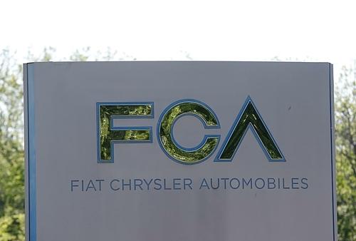 Logo FCA tại trụ sở ở Michigan (Mỹ). Ảnh: Reuters