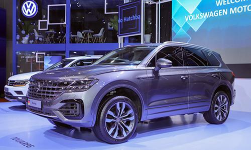 Chiếc Volkswagen Touareg có bản đồ đường lưỡi bò trưng bày tại Vietnam Motor Show. Ảnh: Lương Dũng