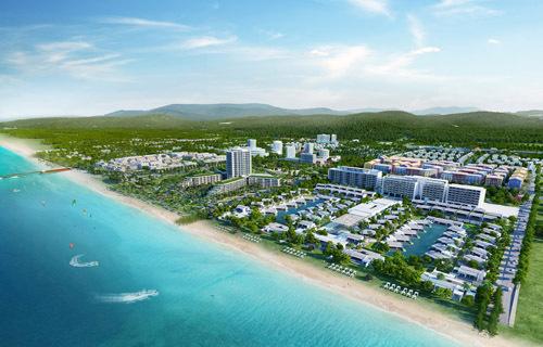 Phối cảnh dự án nhìn từ biển.  Dòng vốn đầu tư nghìn tỷ thay đổi diện mạo Phú Quốc image1 7 JPG 6681 1572504379