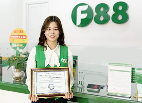 F88 nhận chứng chỉ Bảo vệ khách hàng từ tổ chức quốc tế - ảnh 1