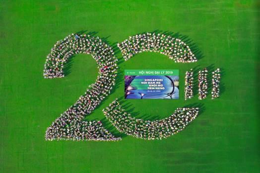 Hội nghị Đại lý 2019 tại Singapore quy tụ hơn 1.000 đại lý và quản lý xuất sắc của Manulife Việt Nam.