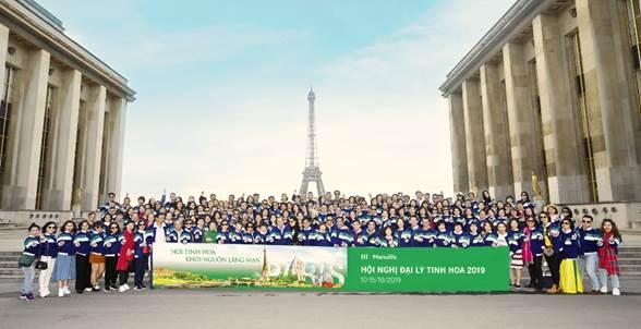 Hội nghị Đại lý Tinh hoa 2019 tại Paris quy tụ hơn 250 đại lý và quản lý xuất sắc của Manulife Việt Nam.