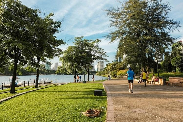 Không gian sống gần gũi thiên nhiên, sông nước được nhiều khách hàng lựa chọn.