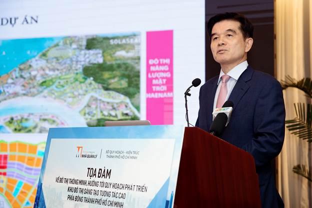 Ông Lee Gyeong Taek - Giám đốc điều hành Công ty CP Lavi E&C, một trong những đối tác chiến lược đồng hành cùng Viện Kinh Tế Xanh thực hiện đề án ĐTTM