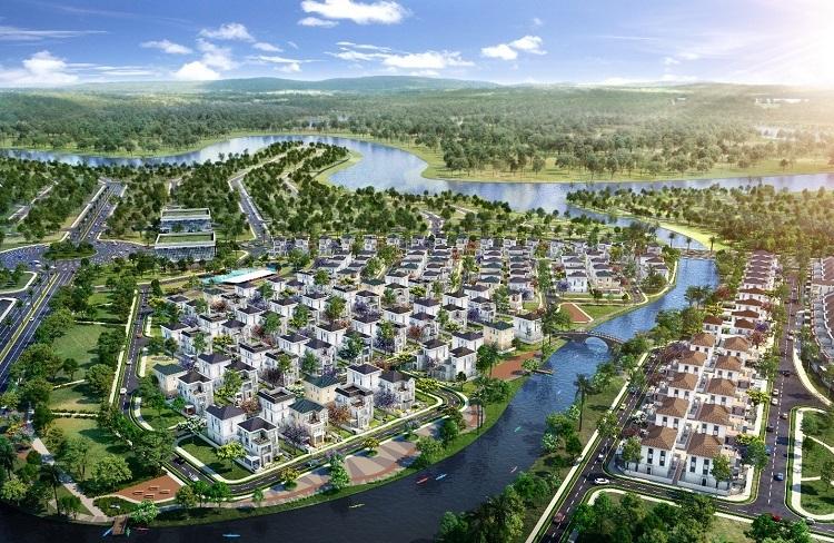Khu biệt thự The Grand Villas tại Đô thị sinh thái thông minh Aqua City với 3 mặt giáp sông.