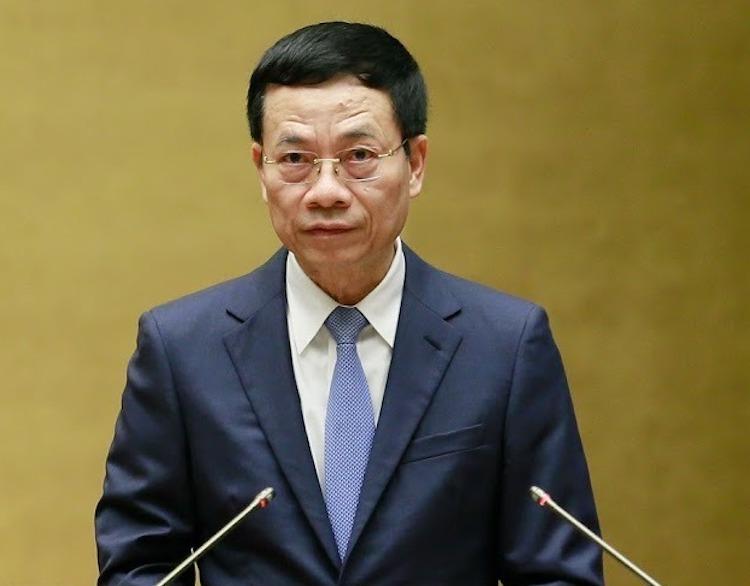 Bộ trưởng Thông tin & Truyền thông Nguyễn Mạnh Hùng. Ảnh: Hoàng Phong