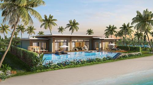 Phối cảnh ngoại thất dự án Mövenpick Resort Waverly Phú Quốc.