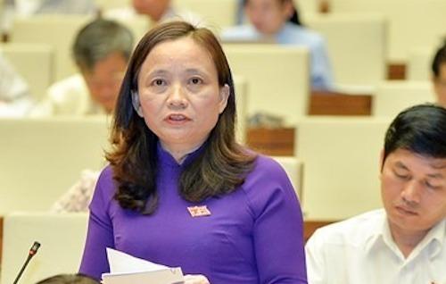 Bà Cầm Thị Mẫn - Uỷ viên Uỷ ban Quốc phòng an ninh. Ảnh: Trung tâm báo chí Quốc hội