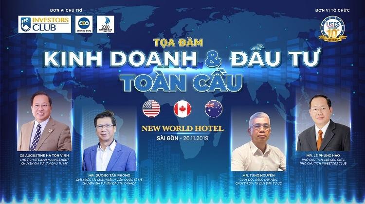 Sự kiện 26/11 quy tụ nhiều chuyên gia hàng đầu về lĩnh vực đầu tư và kinh doanh quốc tế