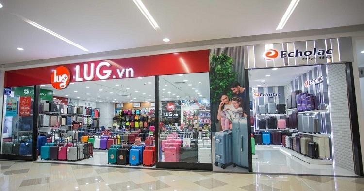 LUG là mái nhà chung của hơn 25 thương hiệu hành lý quốc tế.