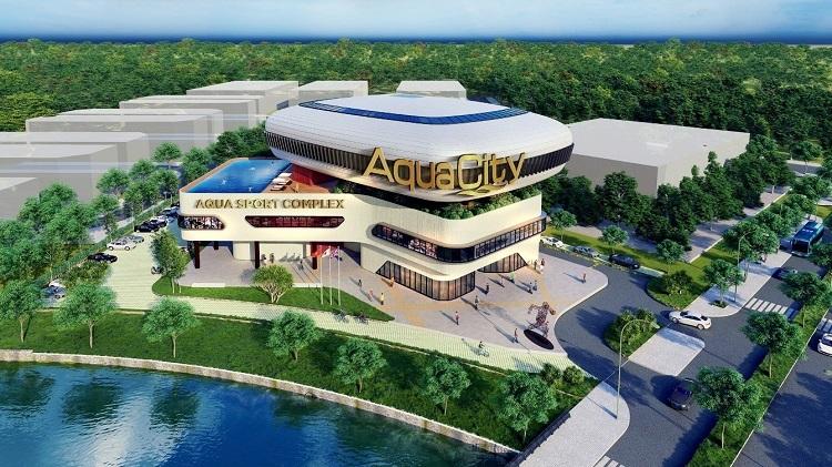 Phối cảnh trung tâm thể thao đa năng Aqua Sport Complex.