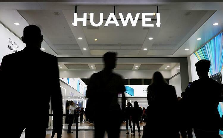 Logo Huawei tại một triển lãm công nghệ ở Berlin (Đức) hồi tháng 9. Ảnh: Reuters