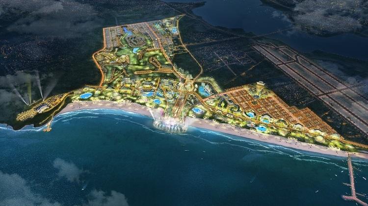 Phối cảnh toàn khu phức hợp giải trí - nghỉ dưỡng KN Paradise.