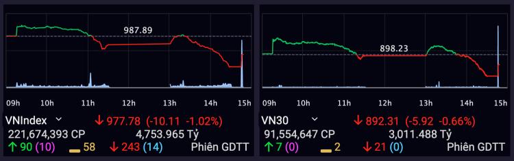 VN-Index giảm tiếp hơn 10 điểm - ảnh 1