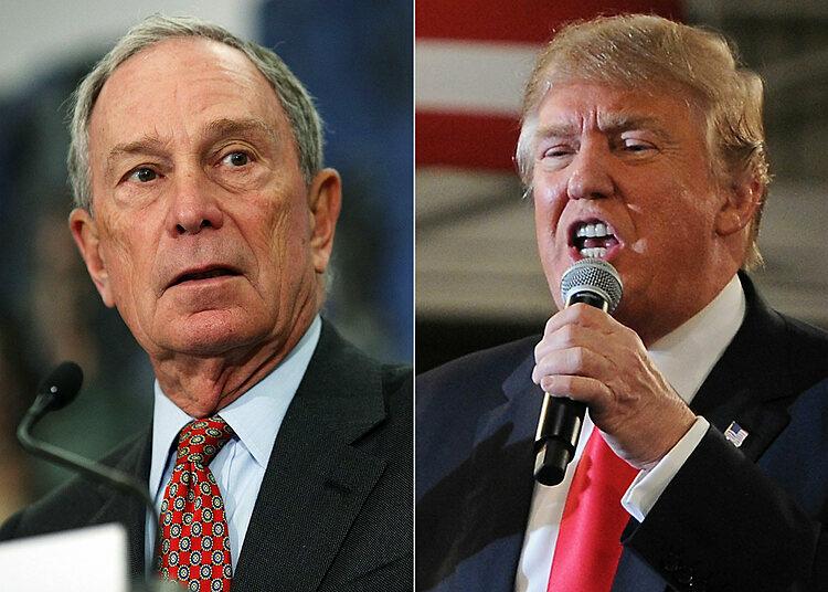 Tỷ phú Michael Bloomberg và Donald Trump.