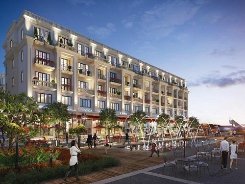 Một góc khu vực trung tâm shophouse Sim De Maison.  - ddddddddd-5751-1574655567 - Nhà phố thương mại 'ba trong một' của Sim Island Phú Quốc