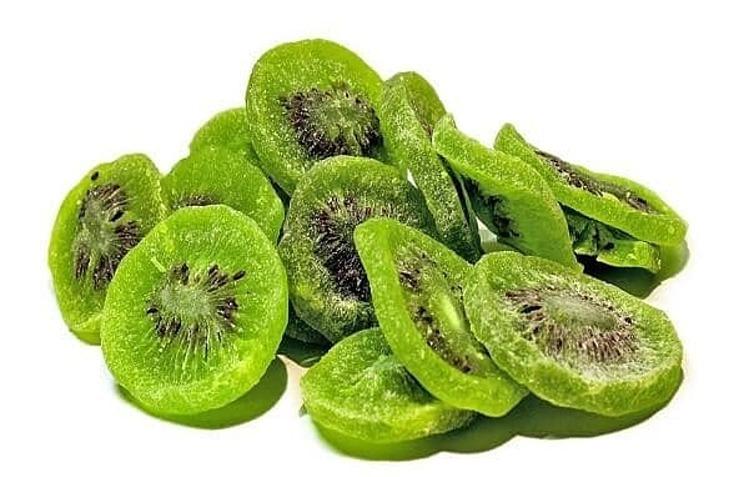 Mứt Kiwi xanh Trung Quốc được ưa chuộng. Ảnh: NH.