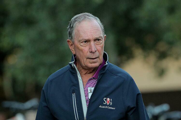 Tỷ phúMichael Bloomberg trong một sự kiện hồi tháng 7. Ảnh: Reuters