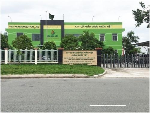 Nhà máy sản xuất Cổ Phần Dược Phẩm Việt (Đông Dược Việt), đạt tiêu chuẩn GMP của WHO.