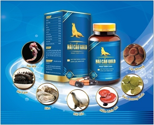 ải Cẩu Gold chứa các thành phần tự nhiên như tinh dầu hải cẩu, giúp tăng cường sinh lực.