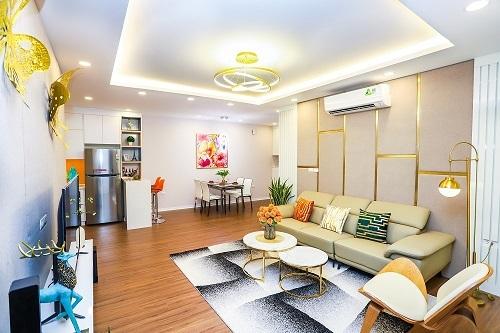 Không gian một căn hộ 98,6 m2 tại dự án.