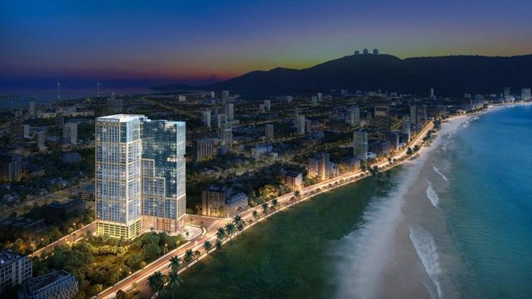 Phối cảnh dự án Premier Sky Residences dự kiến cất nóc trước Tết Nguyên đán 2020.  Xu thế căn hộ mặt biển sở hữu lâu dài tại Đà Nẵng 2 4064 1575344602