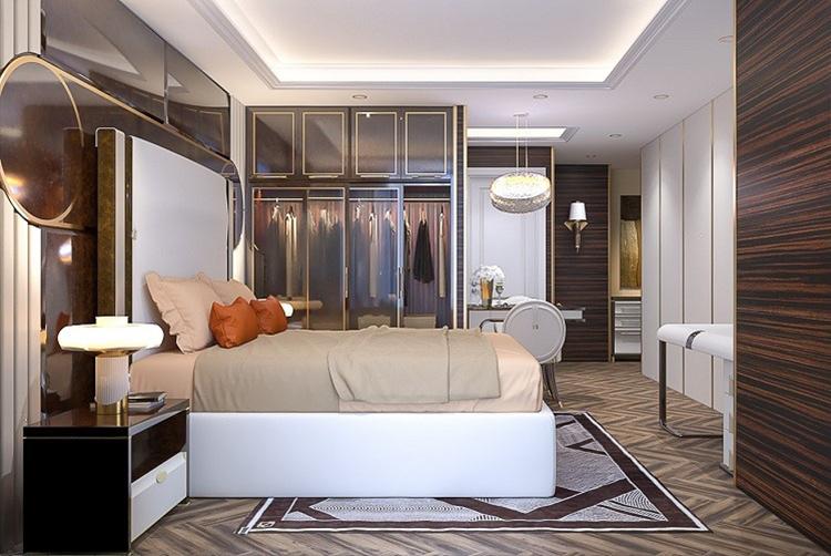 Phòng ngủ tại một căn hộ của dự án Premier Sky Residences  Xu thế căn hộ mặt biển sở hữu lâu dài tại Đà Nẵng 3 7397 1575344602