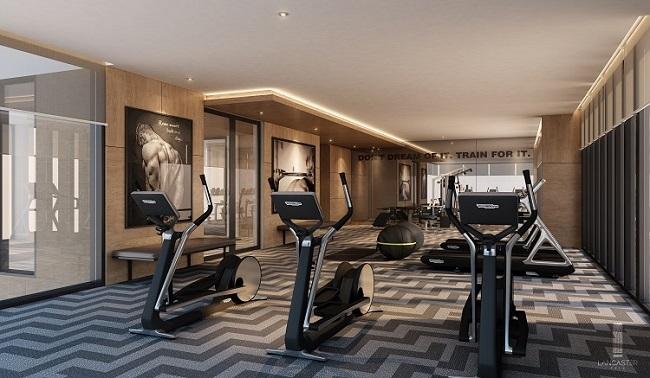 Phòng Gym và Yoga cao cấp được thiết kế theo tiêu chuẩn 5 sao