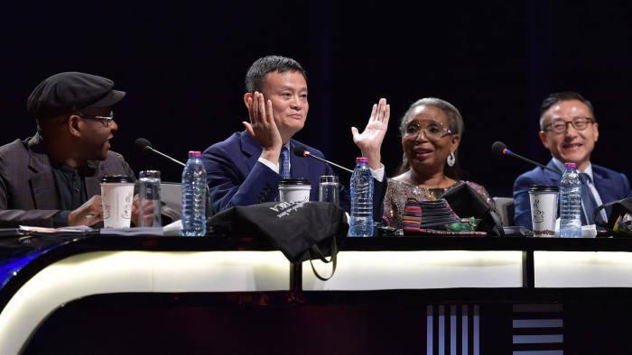 Jack Ma và các giám khảo trong cuộc thi. ẢNh: Jack Ma Foundation