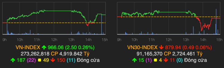 VN-Index giữ sắc xanh khi cổ phiếu trụ phân hóa - ảnh 1