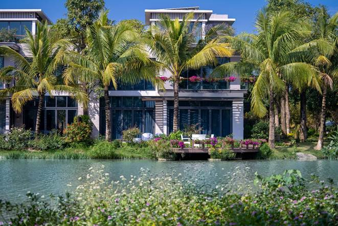 Không gian sống xanh cho người giàu tại biệt thự đảo Ecopark - ảnh 1