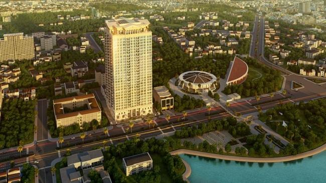 Phối cảnh dự án D. Palais Louis, đường Nguyễn Văn Huyên, Cầu Giấy, Hà Nội.