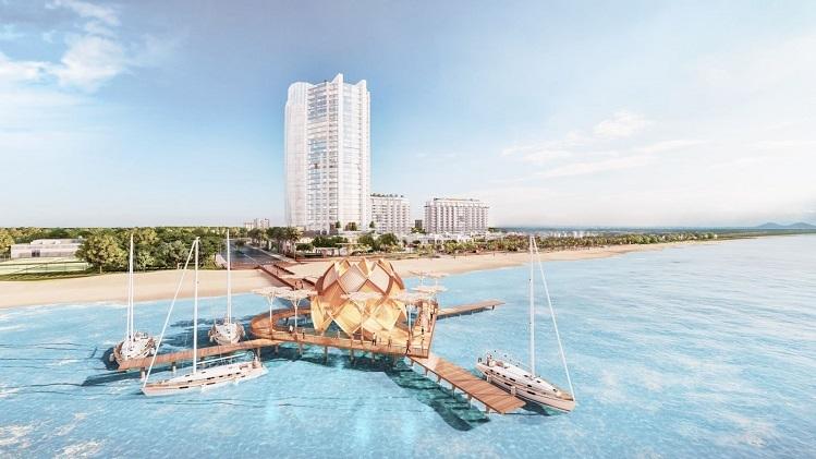 Phối cảnh hồ bơi trung tâm.  Aria Vũng Tàu kỳ vọng thành 'tâm điểm' bất động sản nghỉ dưỡng Cau tinh yeu dai 100m 4650 1576062216
