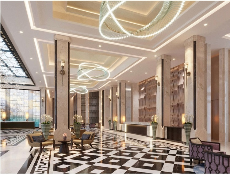 Khu căn hộ nghỉ dưỡng còn sở hữu hệ thống tiện ích đầy đủ, riêng biệt gồm: sảnh louge đón tiếp sang trọng.  - Anh-3-9951-1576149191 - New Vision ra mắt 921 căn hộ khách sạn nghỉ dưỡng tại Phú Quốc