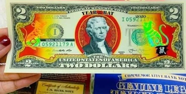 Tờ 2 USD in hình chuột mạ vàng - ảnh 1