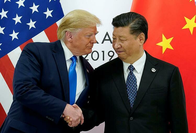 Tổng thống Mỹ Donald Trump và Chủ tịch Trung Quốc Tập Cận Bình tại Hội nghị G20 ở Nhật Bản. Ảnh: Reuters