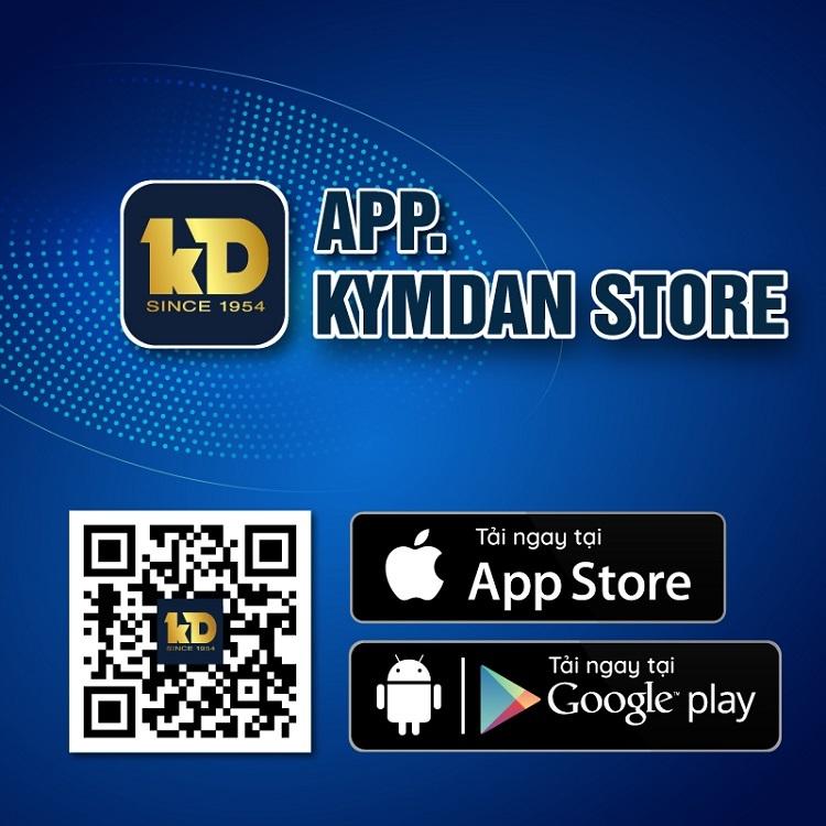 Ứng dụng Kymdan Store giúp khách hàng mua sản phẩm Kymdan chính hãng tiện lợi, nhanh chóng hơn.