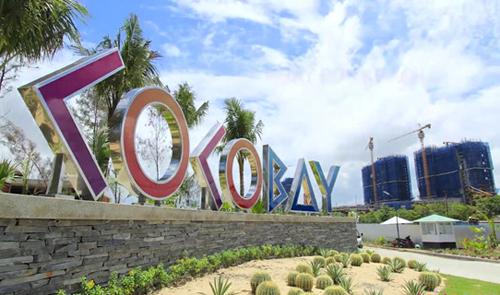 Cổng vàodự án Cocobay Đà Nẵng - dự án xảy ra đổ vỡ cam kết lợi nhuận trong năm 2019. Ảnh: Empire Group