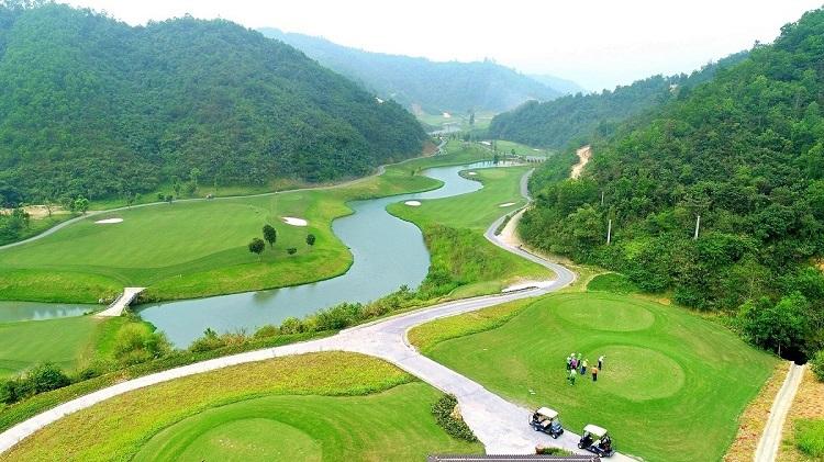 Dự ánsân golf Hilltop Valley Golf Club của Geleximco.
