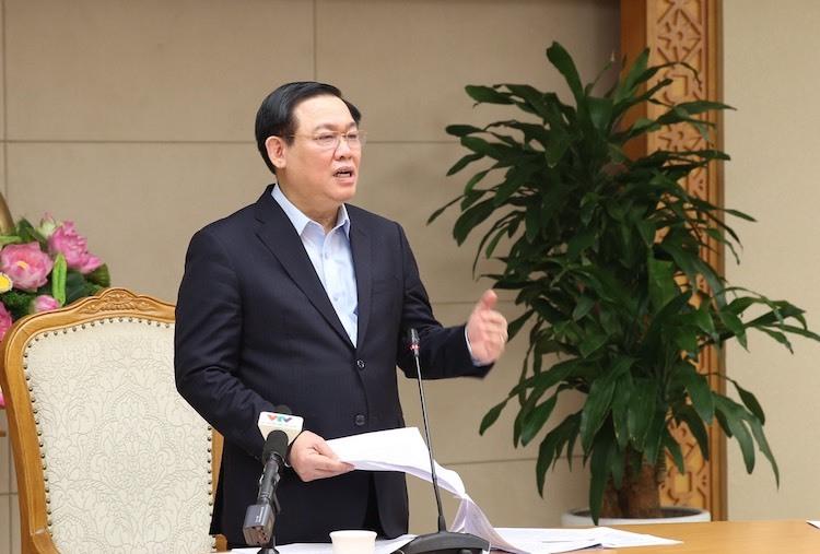 Phó thủ tướng Vương Đình Huệ chỉ đạo tại cuộc họp Ban chỉ đạo giá ngày 25/12. Ảnh: VGP