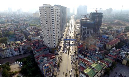 Một khu vực của Hà Nội - nơi đang có tốc độ phát triển các dự án rất nhanh. Ảnh: Giang Huy