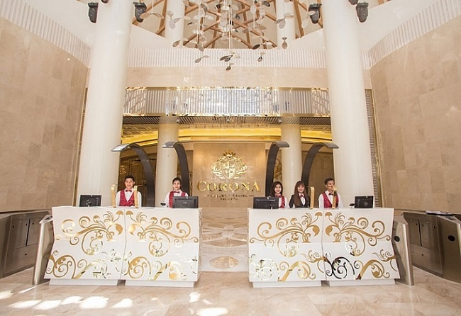 Sảnh lễ tân Corona Casino Phú Quốc.  Casino Corona góp phần tạo động lực phát triển du lịch Phú Quốc casibo vnexpress 2 2572 1577420950