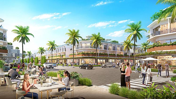 100% shophouse biển The Sound đều sở hữu hai mặt tiền và có pháp lý sở hữu lâu dài.  Nam Group ra mắt nhà phố thương mại hai mặt tiền Nam Phan Thiết 191224 whyham v04 view shophou 8497 2275 1577704116
