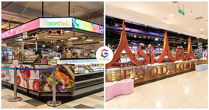 Gigamall quy tụ tinh hoa ẩm thực trải dài từ Âu đến Á như Mỹ, Nhật, Hàn, Hong Kong (Trung Quốc), Thái Lan, Việt Nam