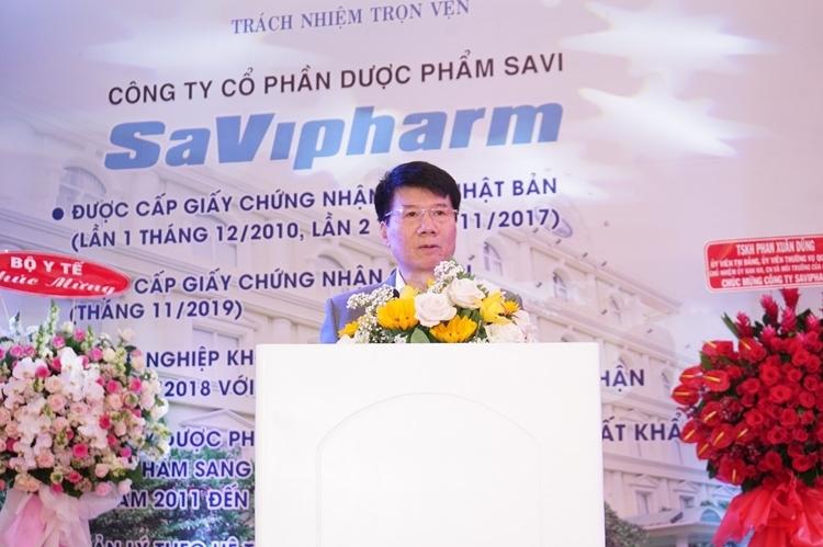 Tiến sĩ Trương Quốc Cường – Thứ trưởng Bộ Y tế phát biểu nhân sự kiện SAVIPHARM được trao giấy chứng nhận GMP châu Âu
