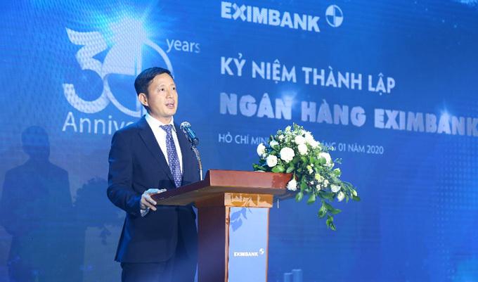 Ông Nguyễn Cảnh Vinh - quyền Tổng Giám đốc Eximbank phát biểu khai mạc sự kiện.