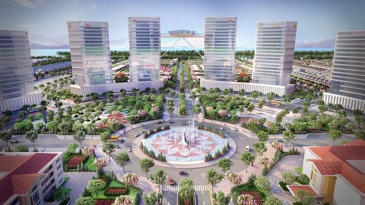 Phối cảnh quảng trường trung tâm dự án.